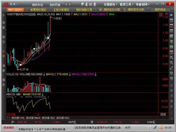 华泰证券股票期权全真模拟交易系统(澎博)v5.2预览图